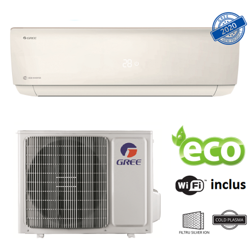 Aer conditionat Gree Bora A4 Silver R32 GWH18AAD-K6DNA4B Inverter 18000 BTU