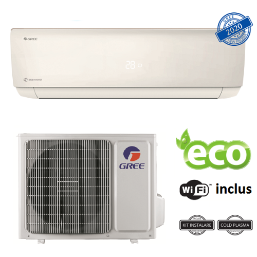 Aer conditionat Gree Bora A4 Silver R32 GWH09AAB-K6DNA4A Inverter 9000 BTU